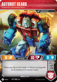 Autobot Gears Bot Mode Card Image