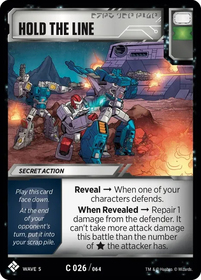Hold The Line Card Image